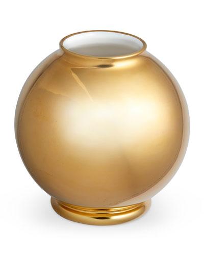 Marion Gilded Round Vase