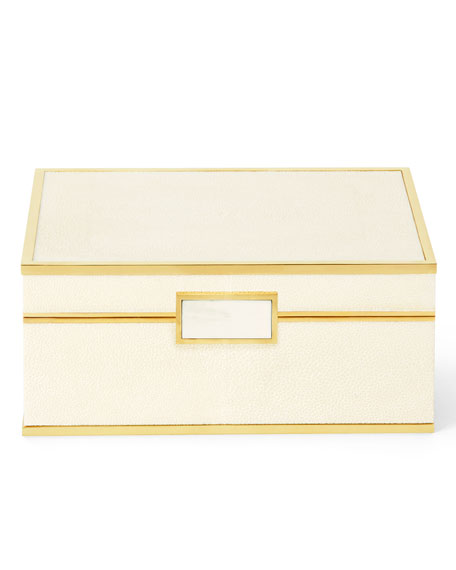 AERIN Embossed Shagreen Jewelry Box