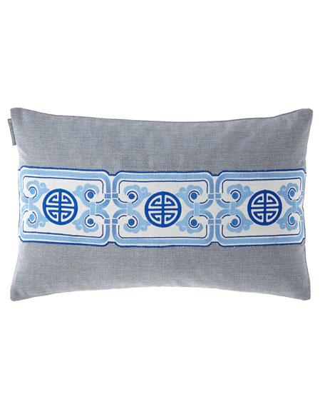 Lili Alessandra Oriental Chain Small Rectangle Pillow