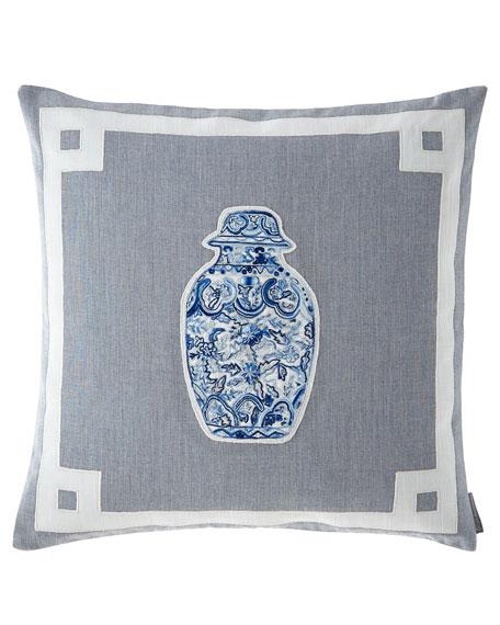 Lili Alessandra Oriental Medium Square Vase Pillow
