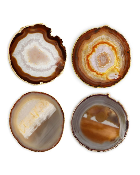 AERIN Natural Agate Coasters, Set of 4