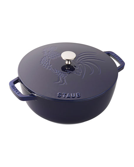 Staub 3.75-Qt. Essential French Oven Rooster with Lid, Dark Blue