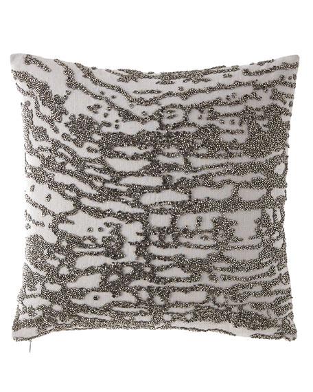 Donna Karan Home Luna Beaded Pillow