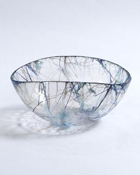 Global Views Small Blue Spark Bowl