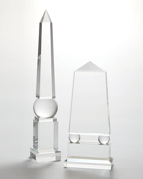 Image 4 of 4: Global Views Wide Crystal Obelisk