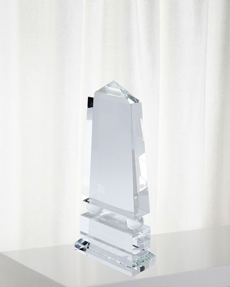 Image 1 of 4: Global Views Wide Crystal Obelisk