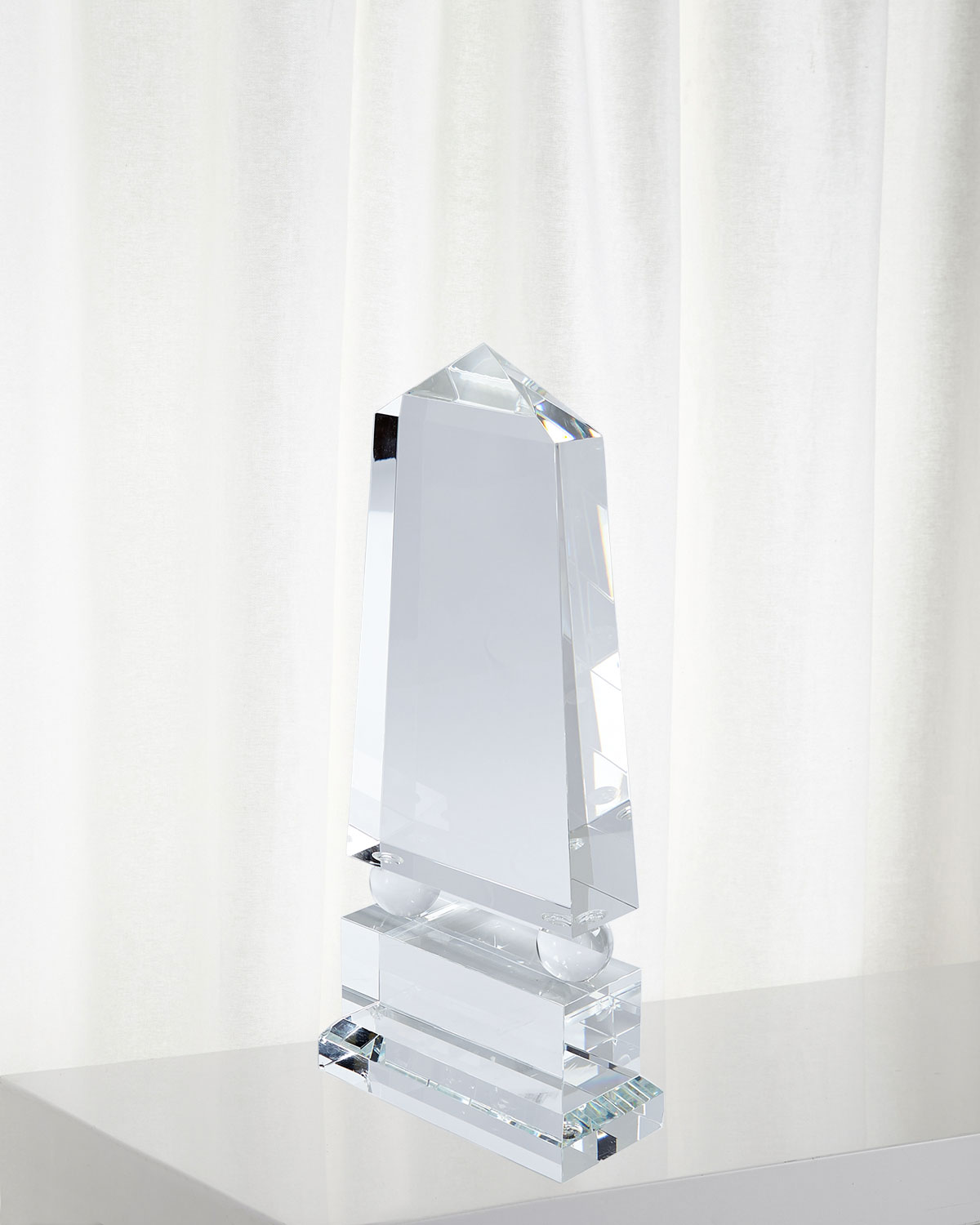 Global Views Wide Crystal Obelisk