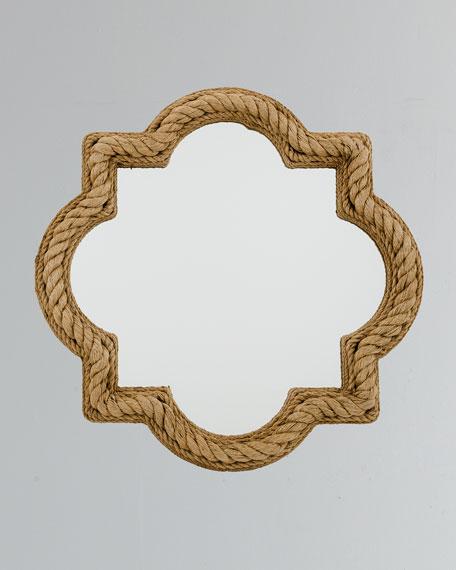 Quatrefoil Rope Mirror