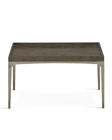 Image 2 of 3: Bernhardt Strata Cerused Charcoal Square Coffee Table