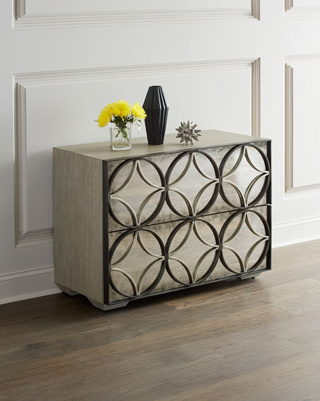 Image 1 of 2: Bernhardt Valonia Antiqued Mirrored Chest
