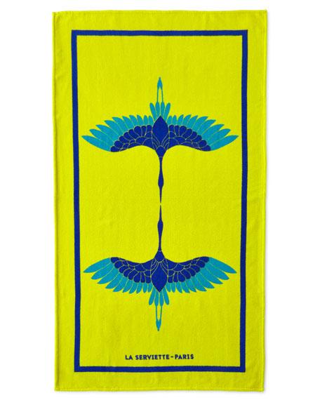 La Serviette Paris Heron Beach Towel, Yellow