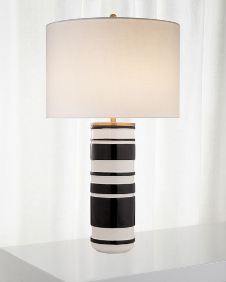 kate spade new york Hayes Sculpted Cylinder Table Lamp
