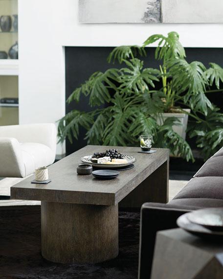 Bernhardt Linea Pedestal Coffee Table