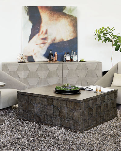 Linea Dimensional Square Coffee Table
