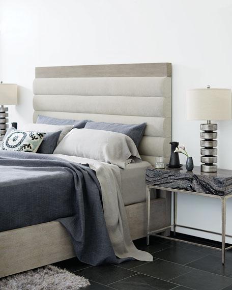 Bernhardt Linea Channel-Tufted Queen Bed