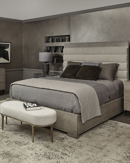 Bernhardt Linea Channel-Tufted California King Bed