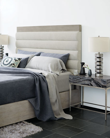 Bernhardt Linea Channel-Tufted King Bed