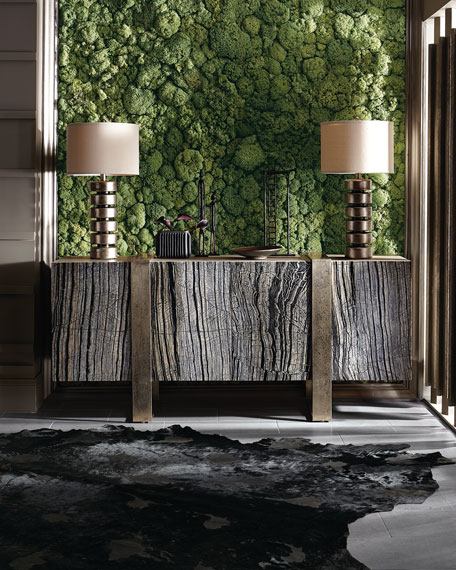 Image 2 of 4: Bernhardt Linea Black Forest Marble Console