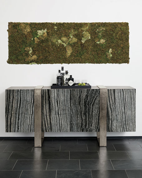 Image 1 of 4: Bernhardt Linea Black Forest Marble Console