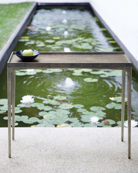 Bernhardt Linea Textured Graphite Sofa Table