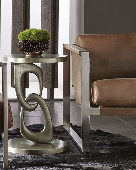 Bernhardt Linea Double Ring Chair-Side Table