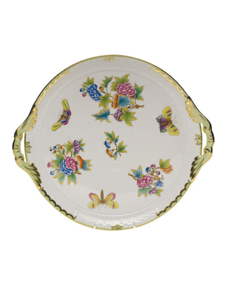 Herend Queen Victoria Round Tray with Handles