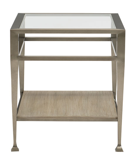 Bernhardt Santa Barbara Metal and Glass End Table