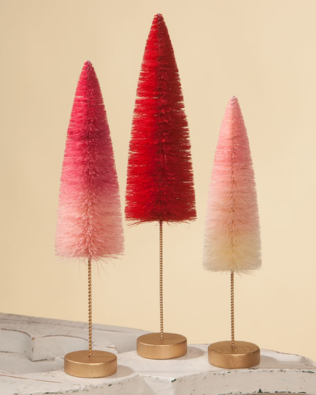 Bethany Lowe Valentine's Day Ombre Trees, Set of 3