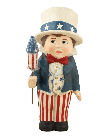 Bethany Lowe Liberty Sammy Paper Mache Figurine