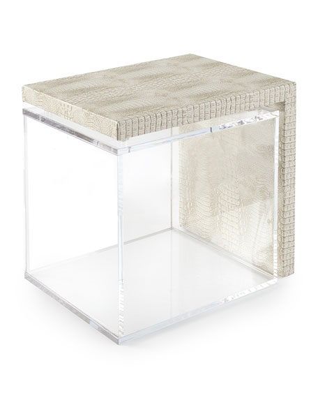 Square Feathers Florence Acrylic Side Table