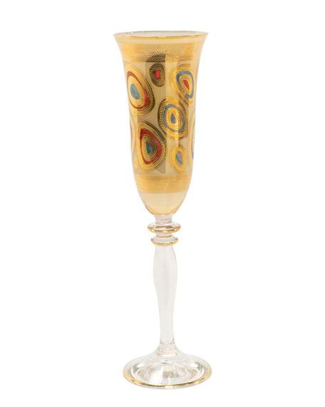 Vietri Regalia Champagne Glass, Cream