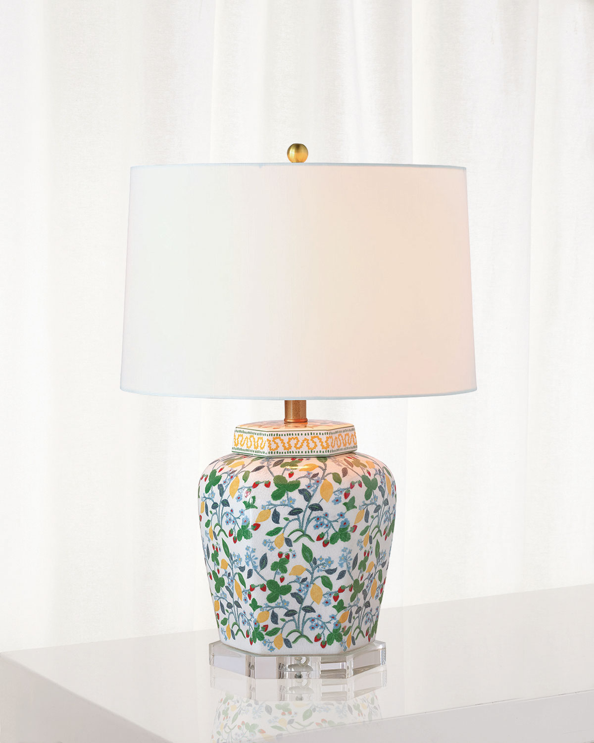 Port 68 Crewel Summer Table Lamp