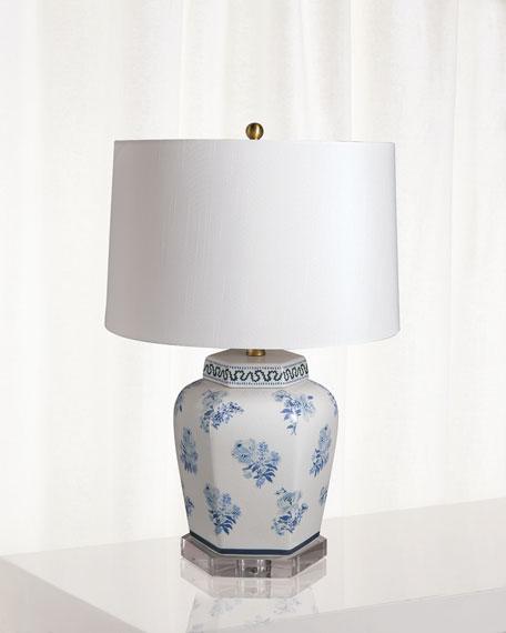 Port 68 Isleboro Eve Blue Table Lamp