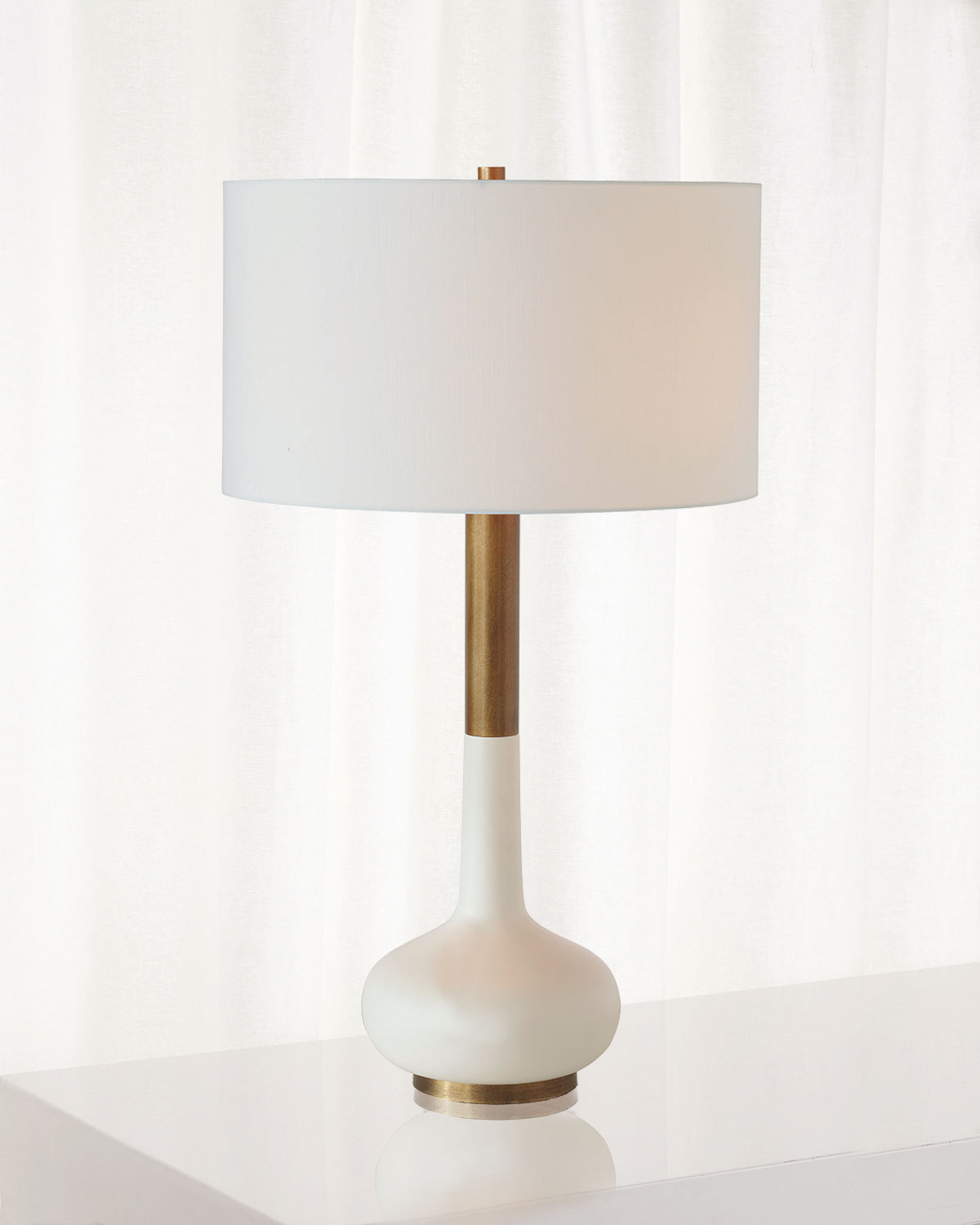 Port 68 Powell White Table Lamp