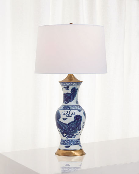 Port 68 Chow Blue Table Lamp