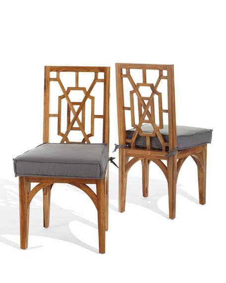 Pair of Teak Dining Chairs