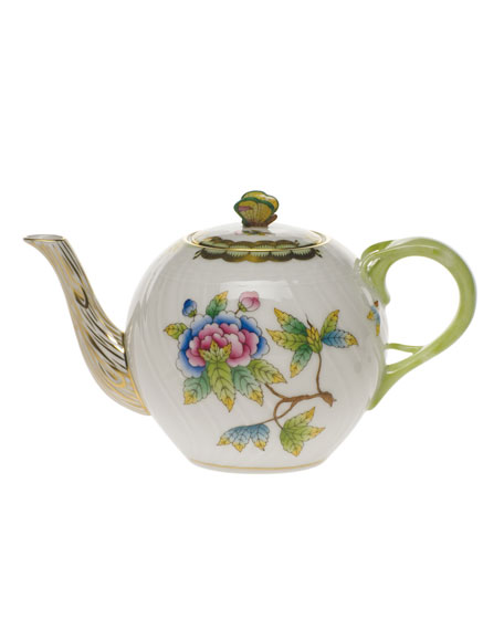 Herend Queen Victoria Teapot with Butterfly Finial
