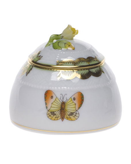 Herend Queen Victoria Honey Pot with Rose Finial