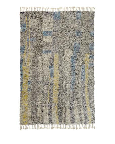 NourCouture Karina Hand-Knotted Shag Rug, 8' x 10'