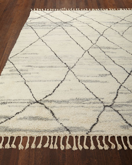 NourCouture Kirsten Hand-Knotted Shag Area Rug, 8' x 10'