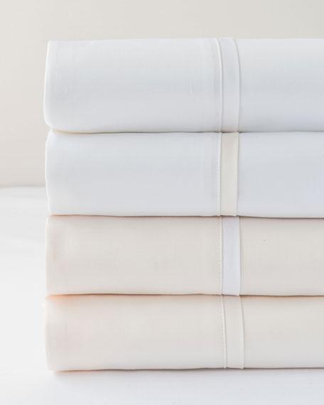 Bovi Fine Linens Estate Full/Queen Sheet Set, White/White
