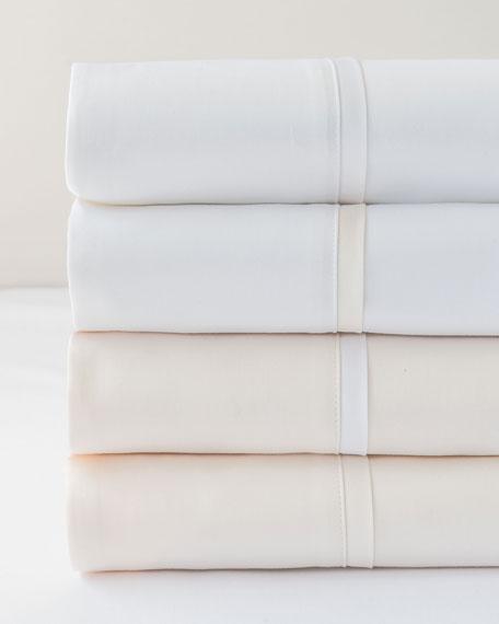 Bovi Fine Linens Estate King Sheet Set, White/White