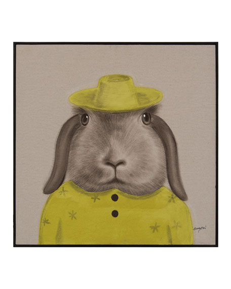 "John-Richard Collection ""Best Dressed Hare"" Wall Art by Teng Fei"