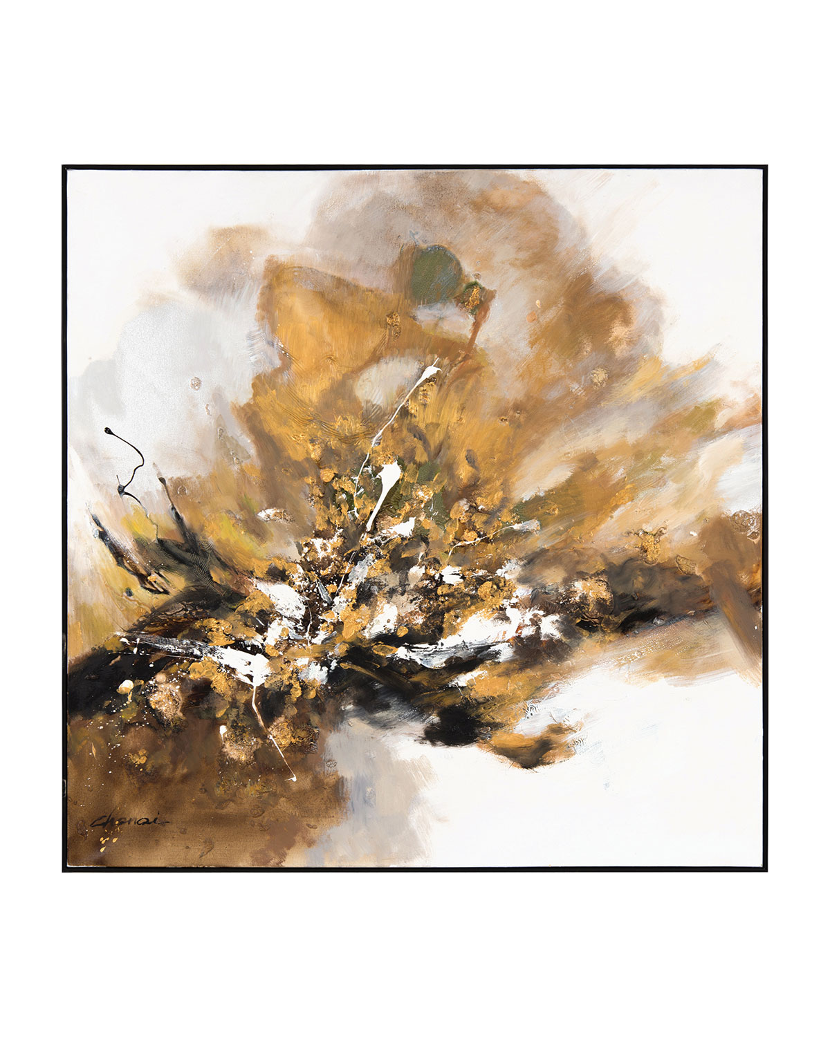 "John-Richard Collection ""Gilt and Charcoal"" Small Wall Art by Chen Qi"