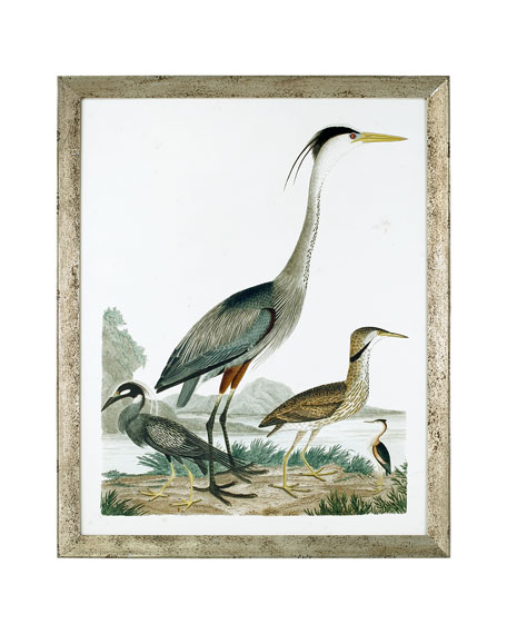 "John-Richard Collection ""Large Heron Family I"" Art Print"