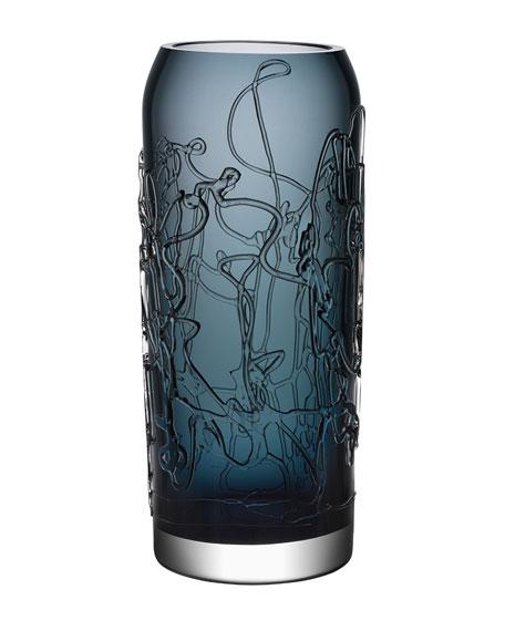 Orrefors Kosta Boda Twine Large Vase, Grey