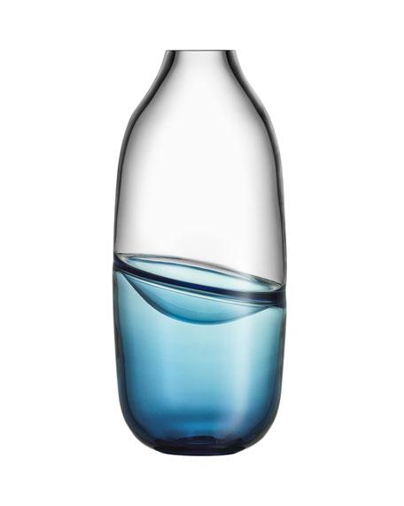 Orrefors Kosta Boda Septum Vase, Steel Blue