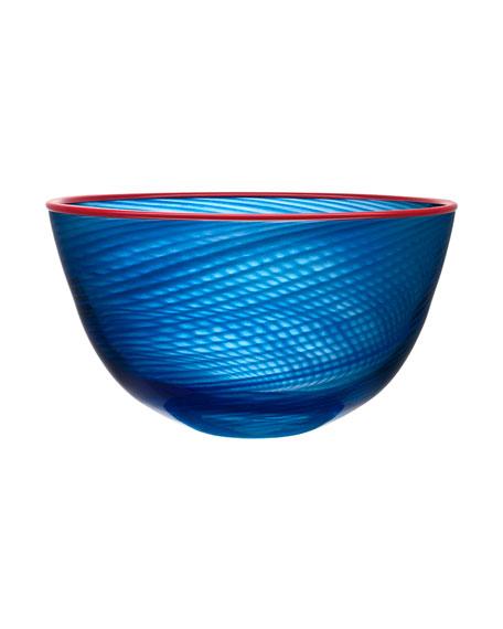 Orrefors Kosta Boda Red Rim Bowl