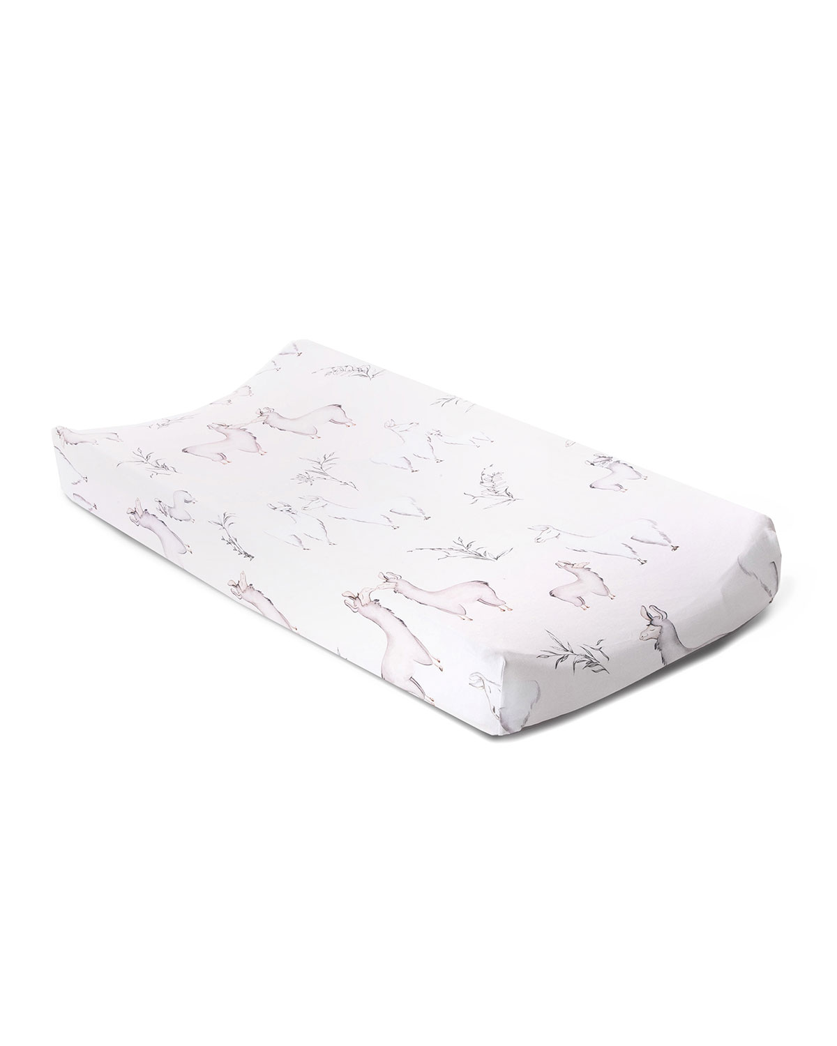Oilo Studio Llama Jersey Changing Pad Cover