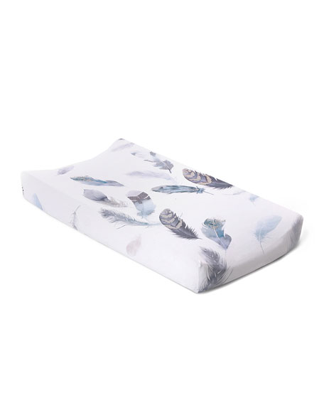 Oilo Studio Featherly Jersey Changing Pad Cover